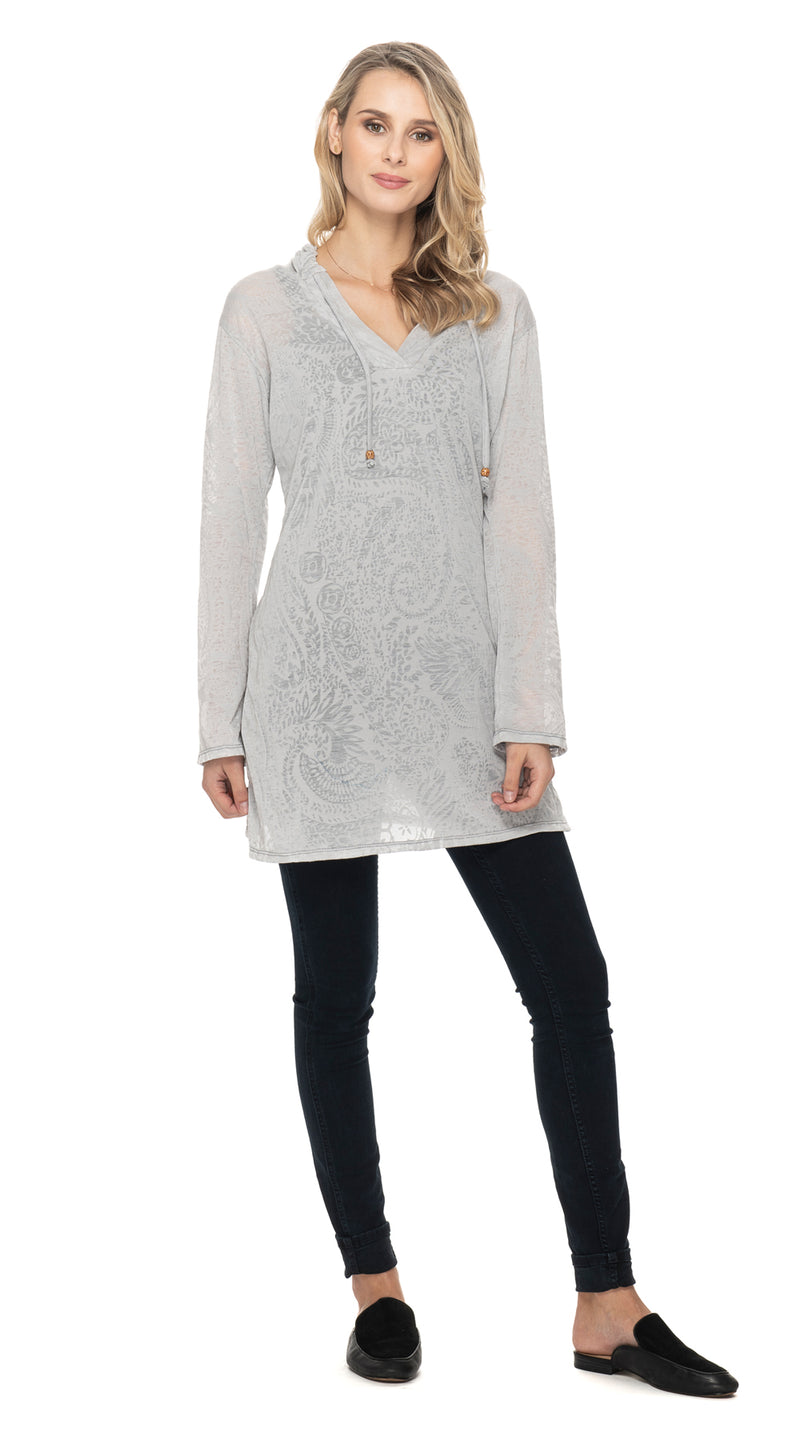 Burnout Layla Hoody - cloud grey