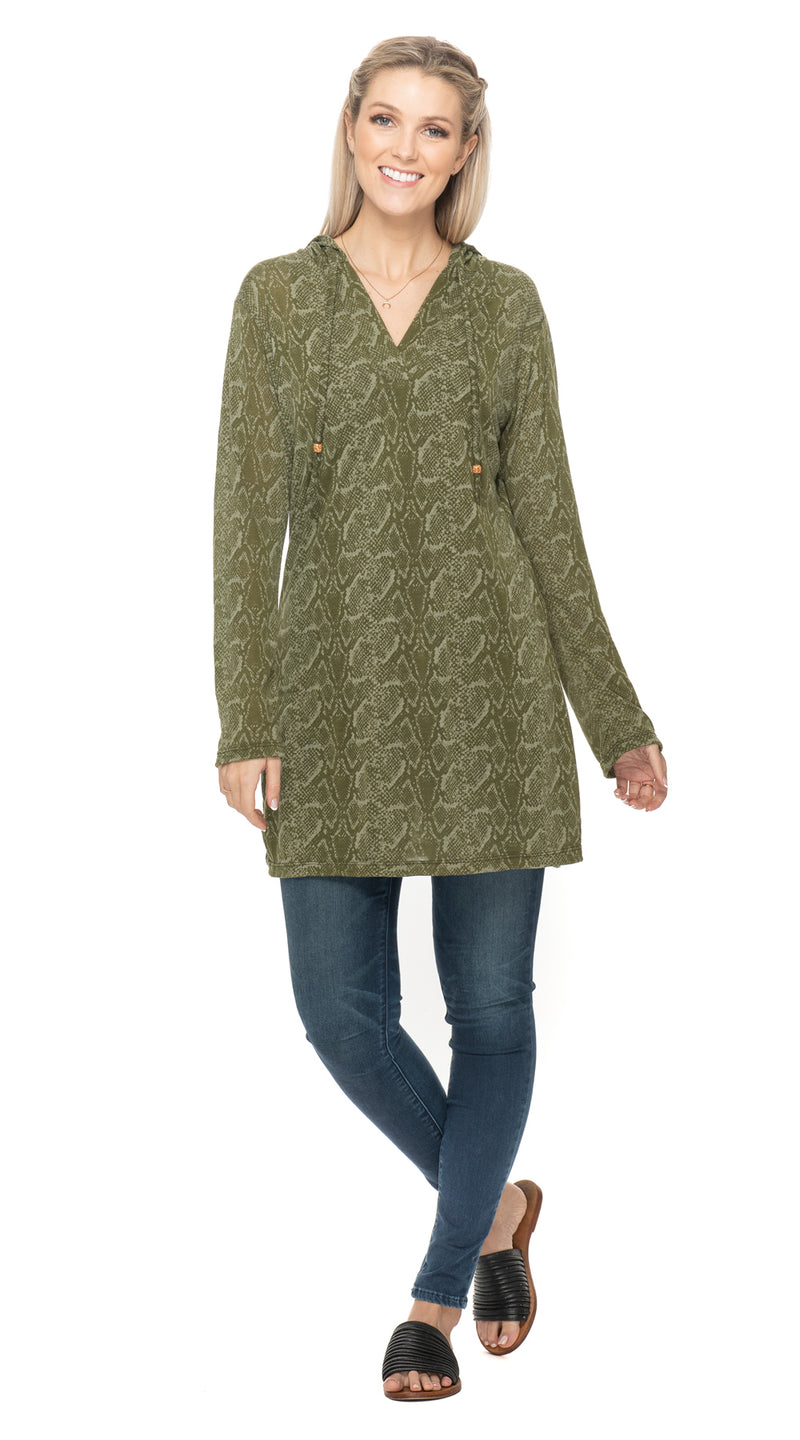 Burnout Layla Hoody - olive