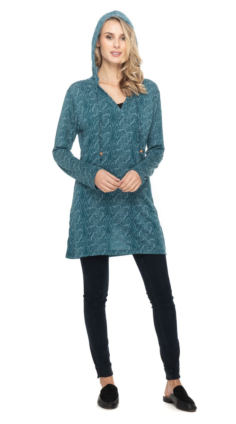 Burnout Layla Hoody - teal