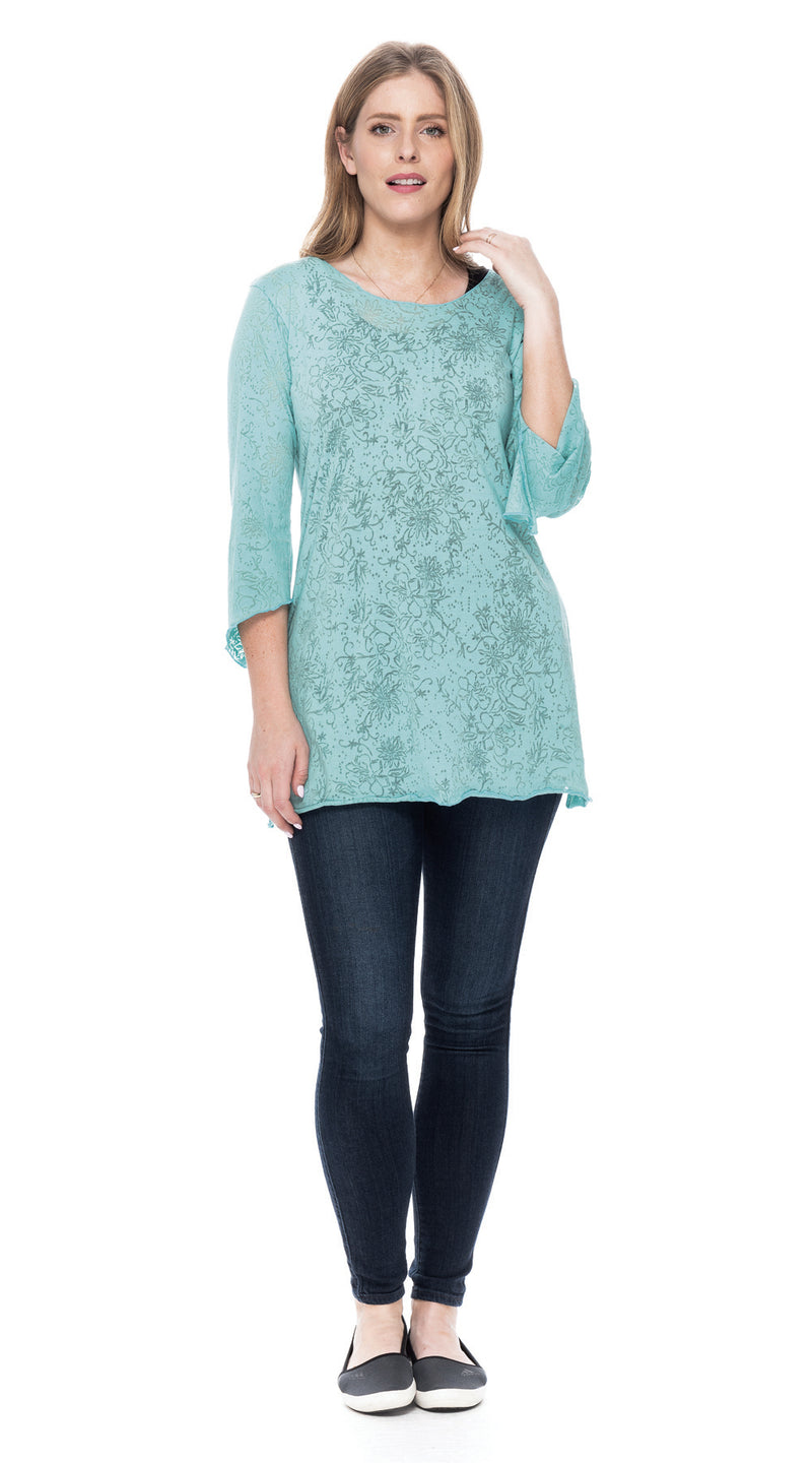 Burnout Amy Tunic - ice blue