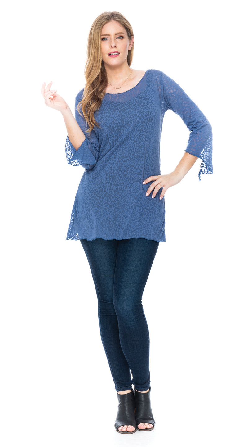 Burnout Amy Tunic - periwinkle
