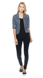 Burnout Bolero - blue paisley