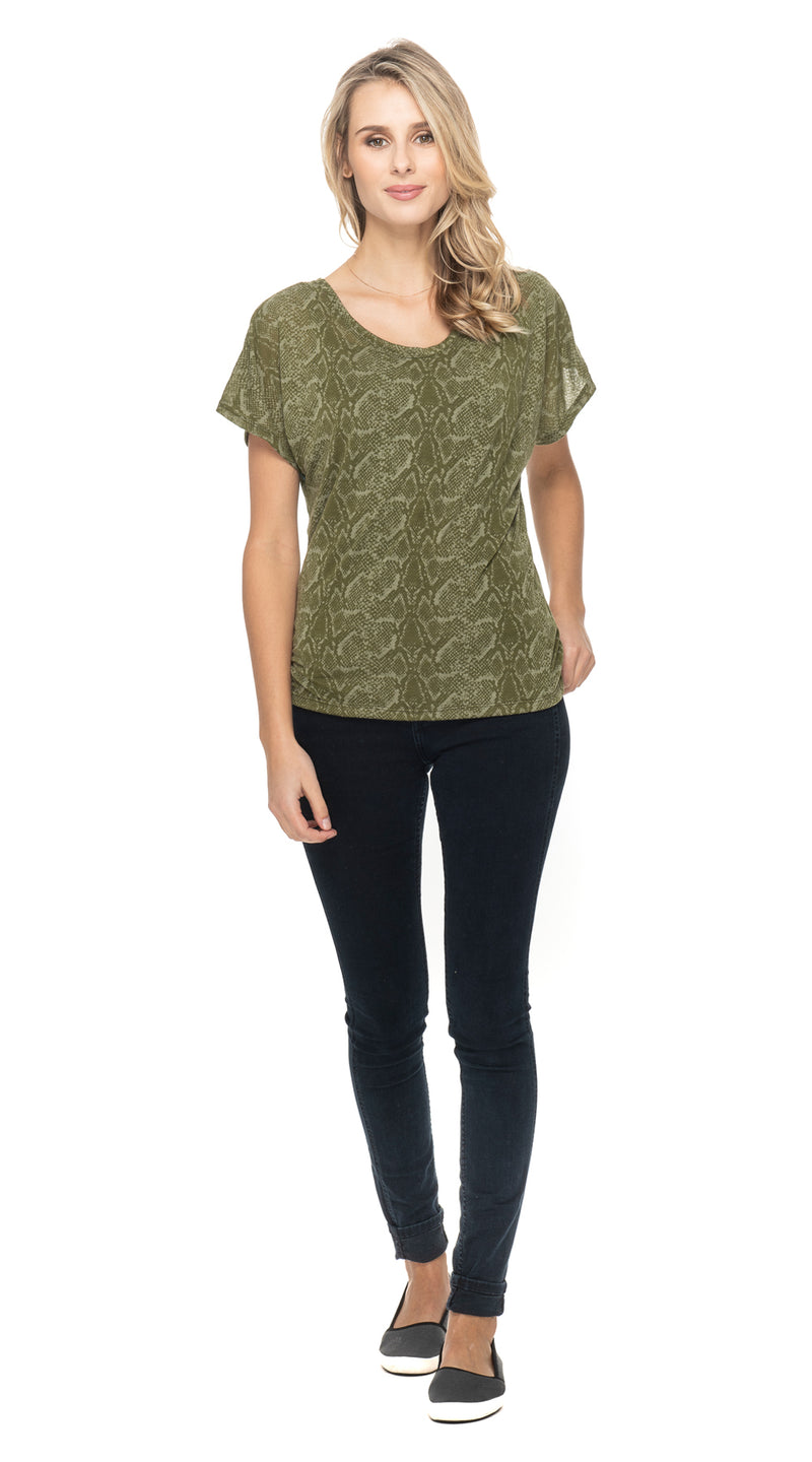 Burnout Cosmic Top - olive