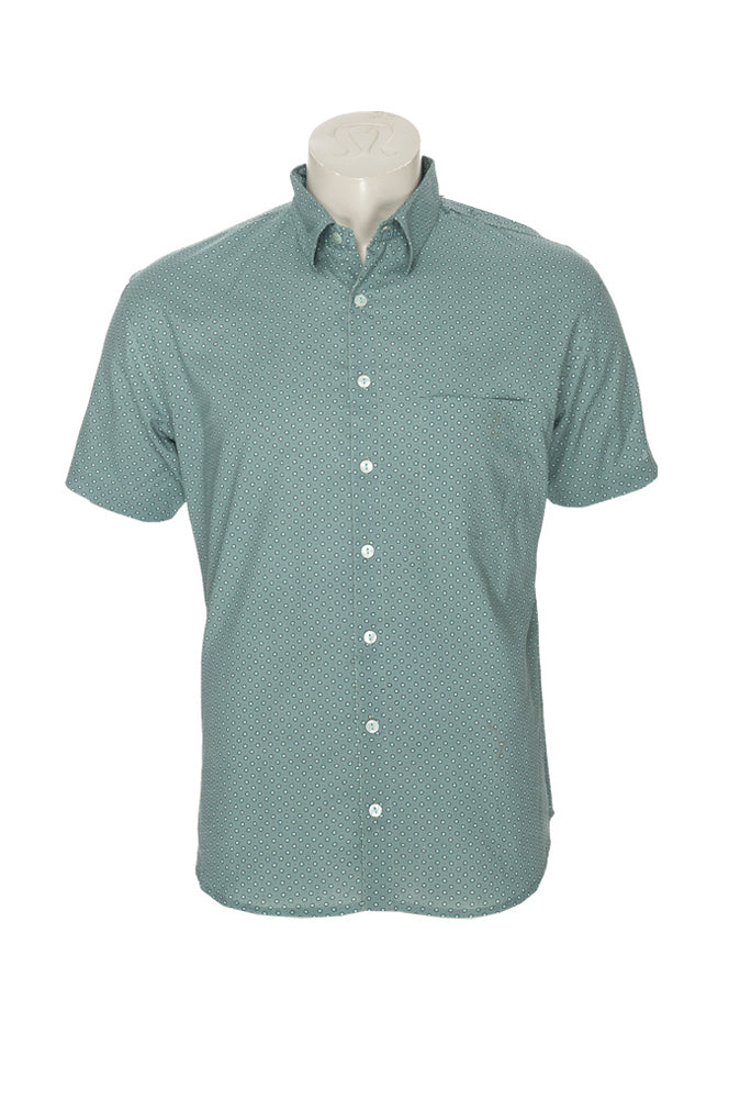 Men's Camino Shirt - sage dots - cotton