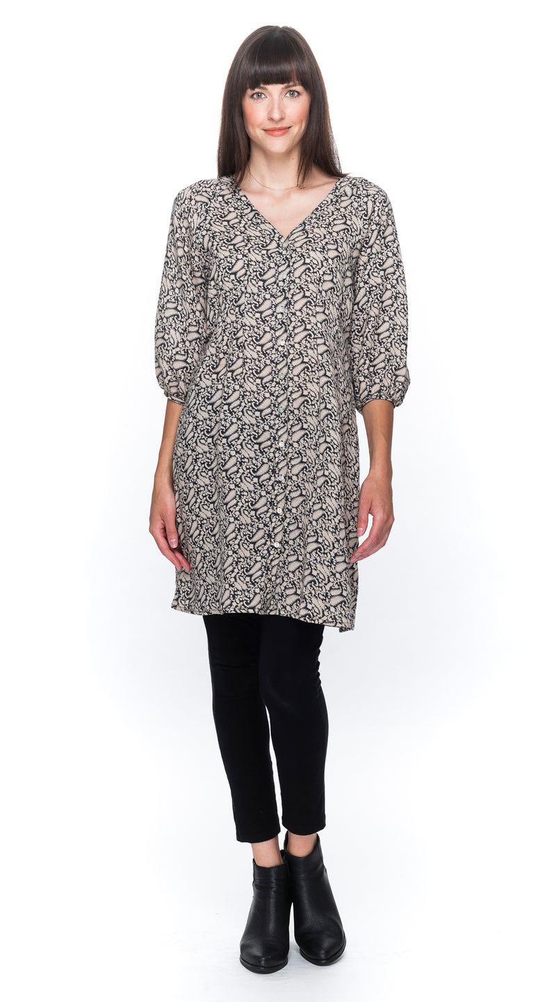 Sita Dress-black paisley