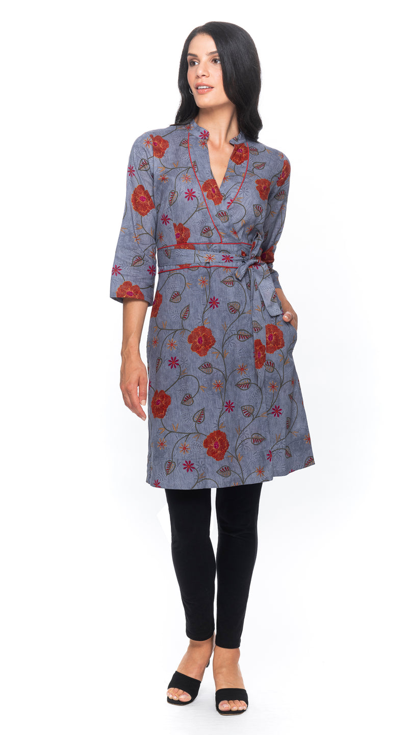 Radha Wrap Dress - cotton