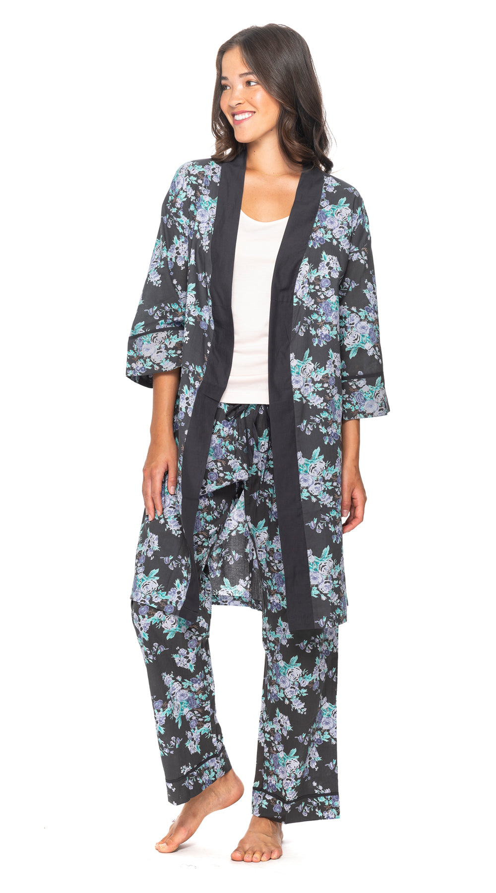 Organic Cotton Bathrobe+Pants SET - 4 PRINTS!