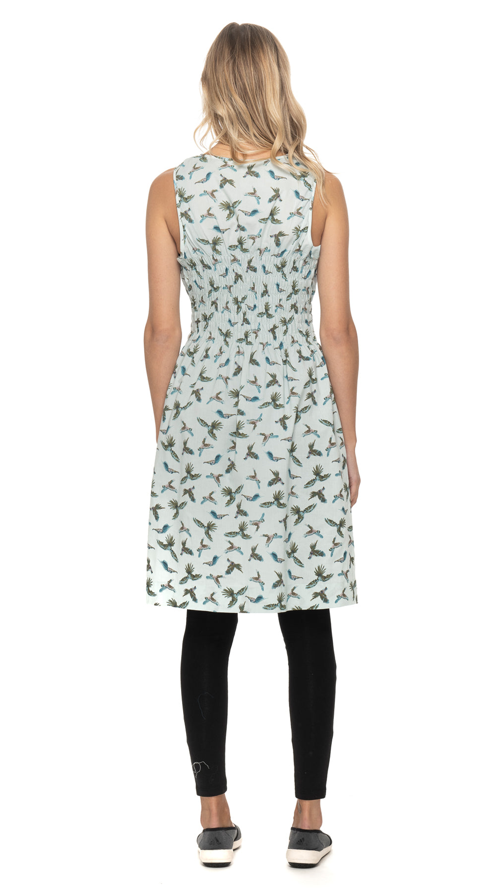 Frankie Dress - cotton - parrot