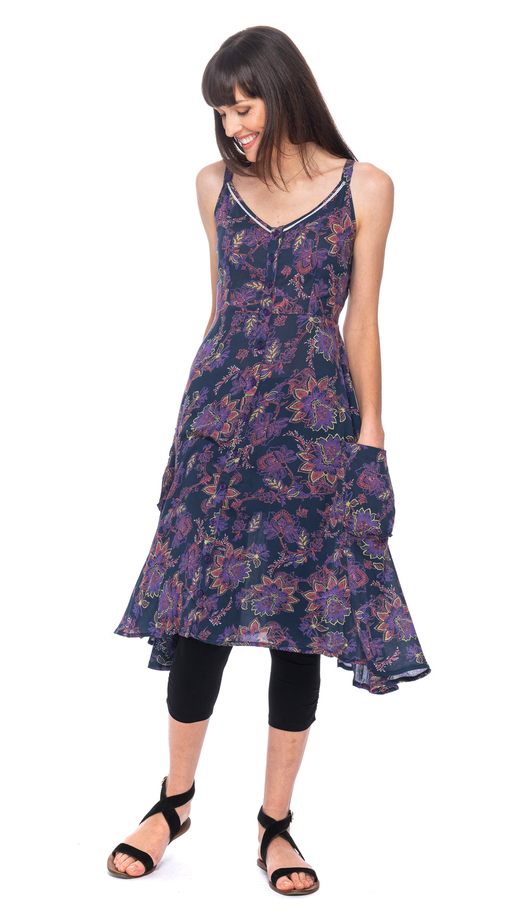 Malibu Dress - rayon crepe - indigo