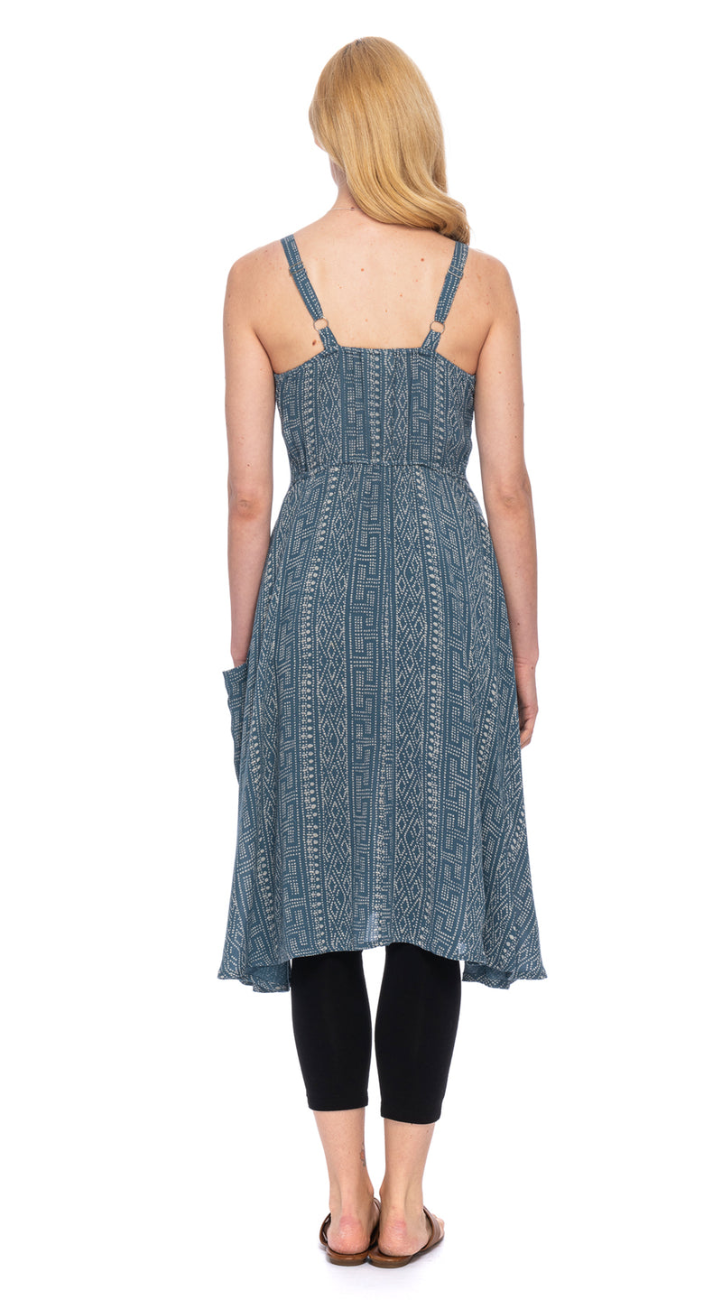 Malibu Dress - rayon crepe - steel