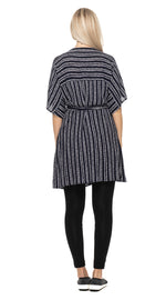 Kyoto Wrap Dress - navy+white