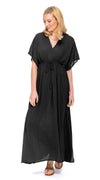 Casablanca Dress - rayon crepe - black
