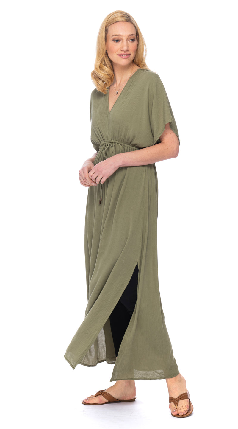 Casablanca Dress - rayon crepe - olive