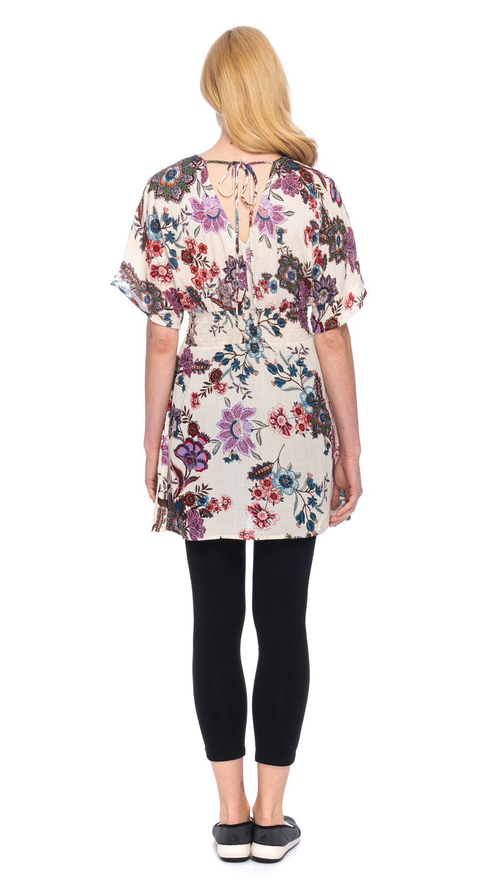 Beverly Tunic - cream floral
