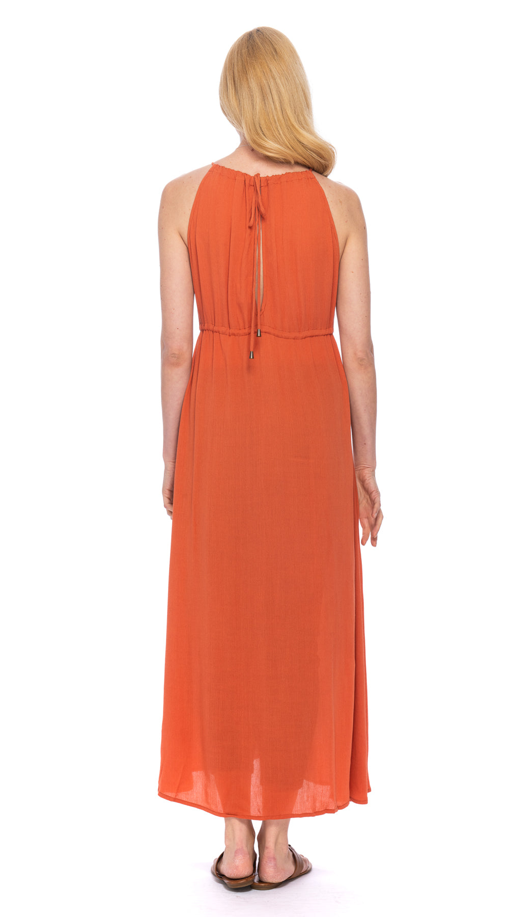 Lulu Dress - rayon crepe - tangerine