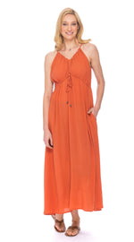 Lulu Dress - apricot - rayon crepe