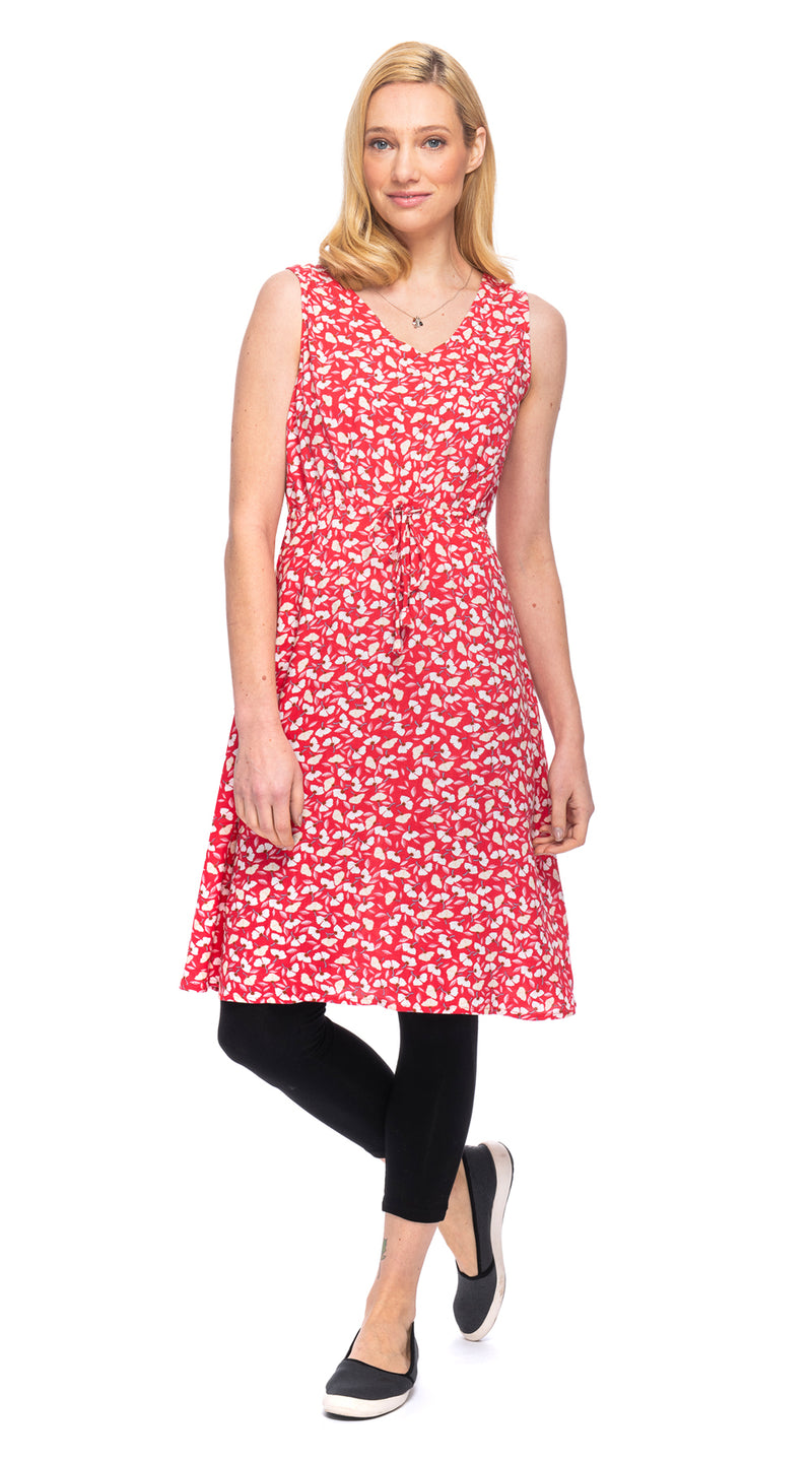 Rachel Dress - red ginkgo