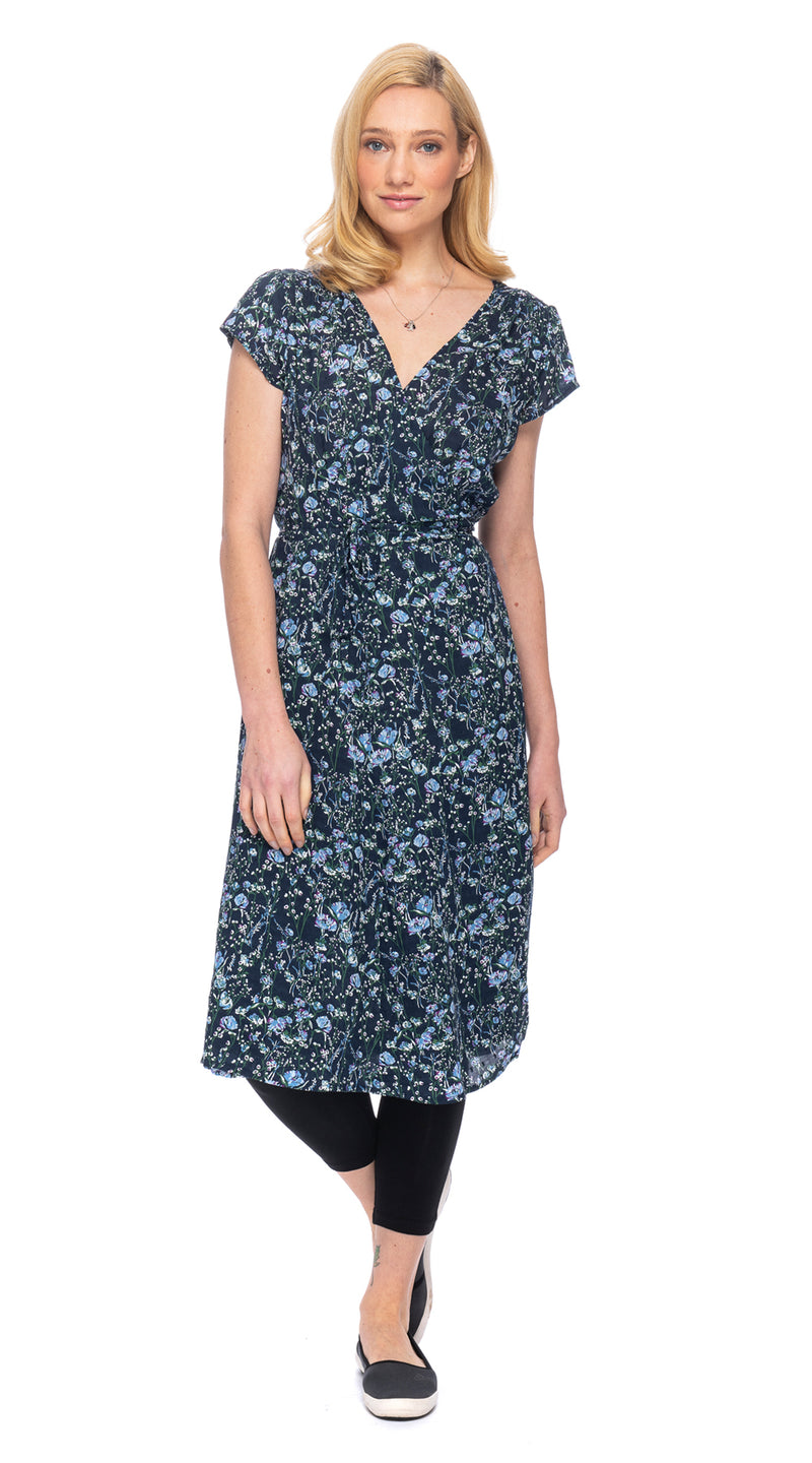 Charlie Dress  - blue floral