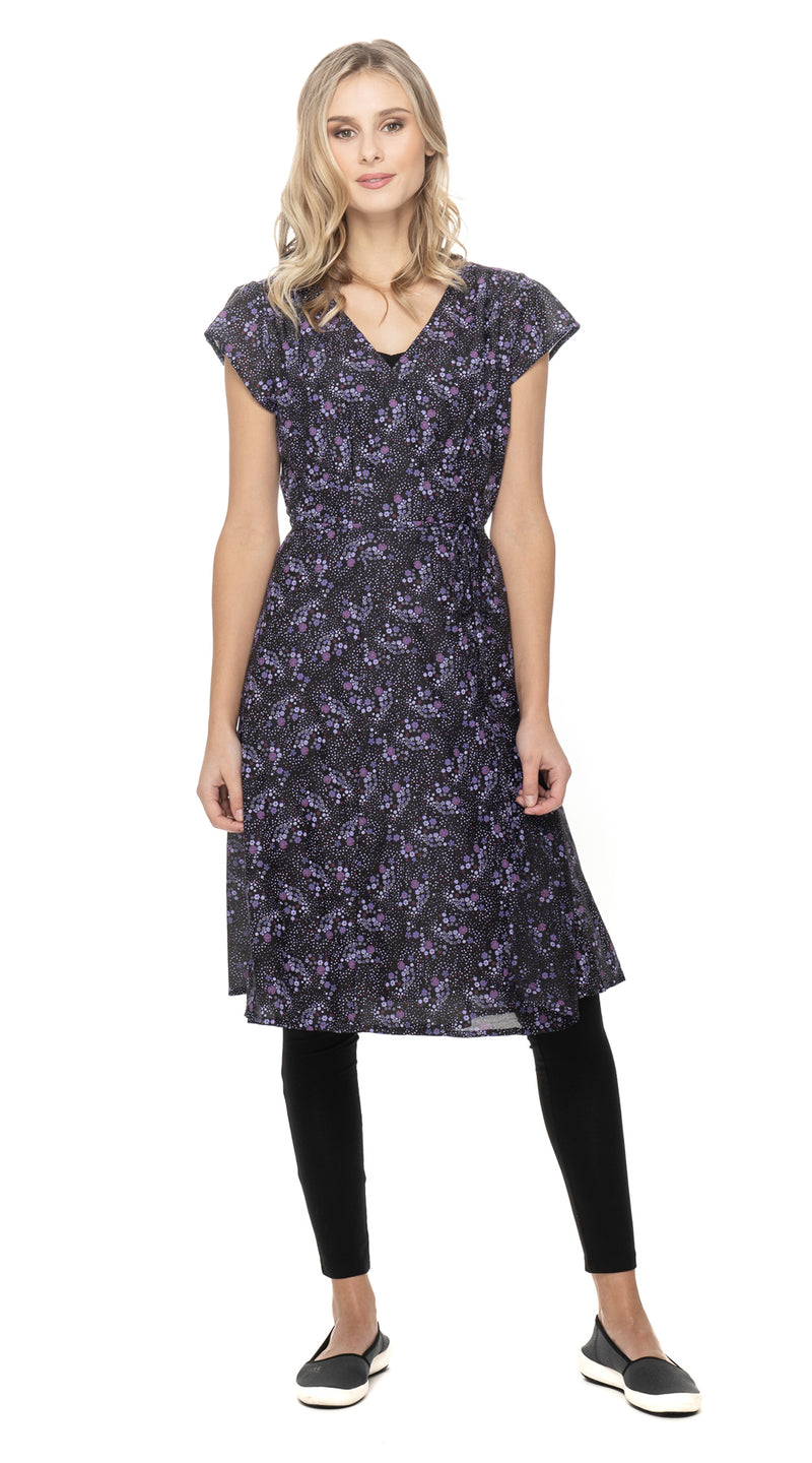 Charlie Dress - purple dots