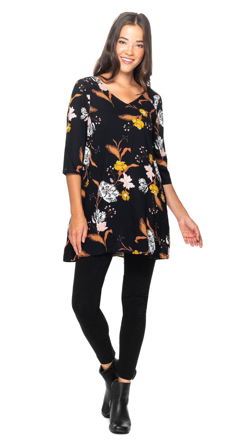 Lexi Tunic - black+gold