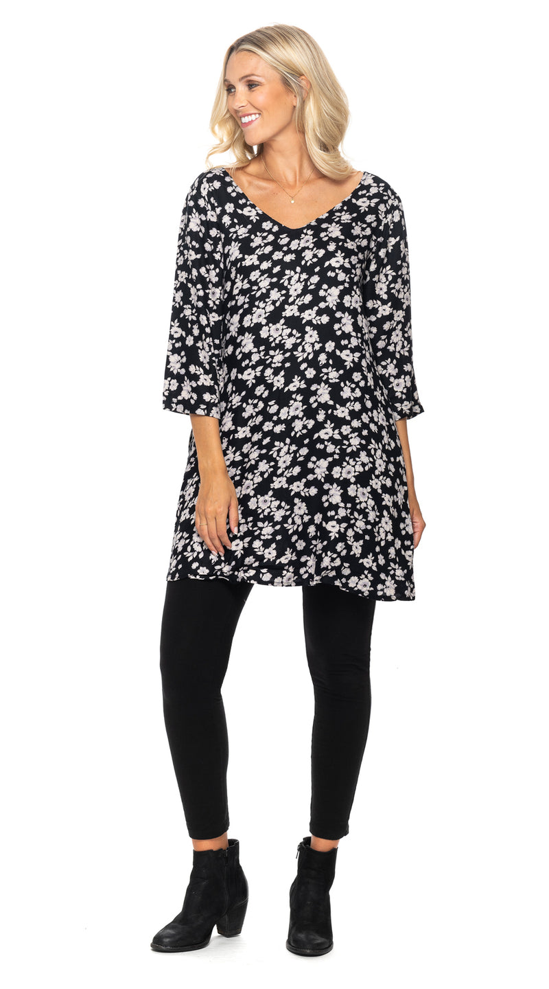 Lexi Tunic - black+white