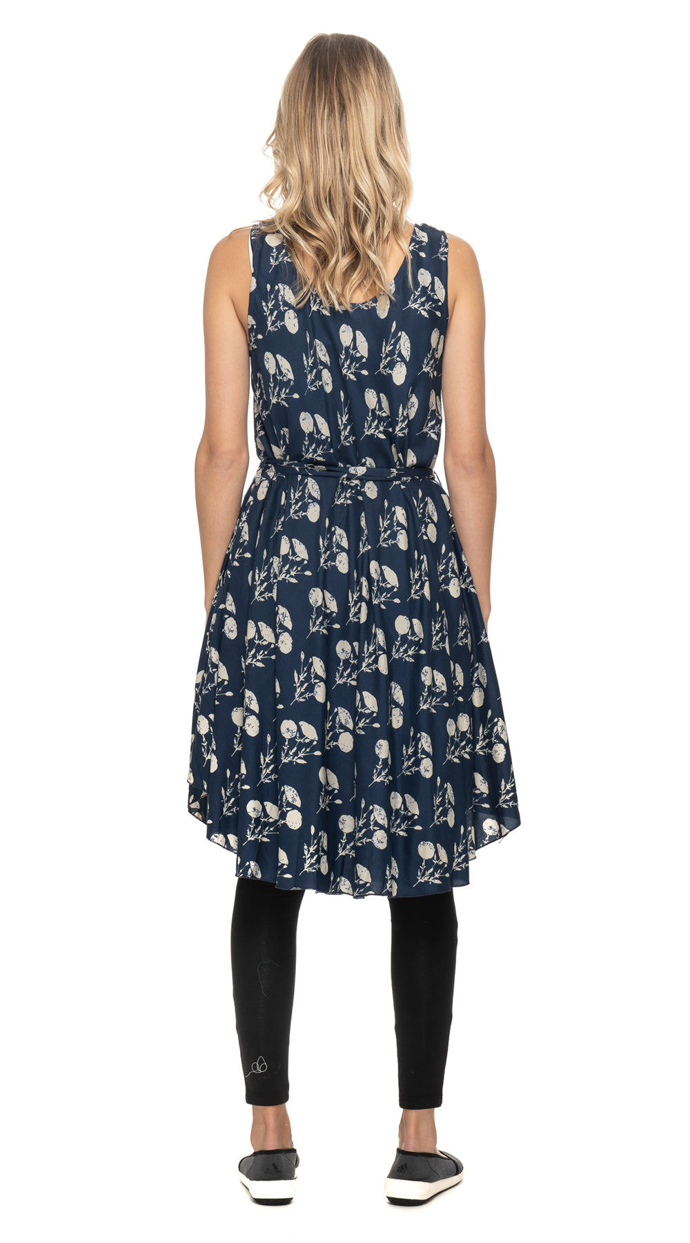 Evelyn Dress - navy+white