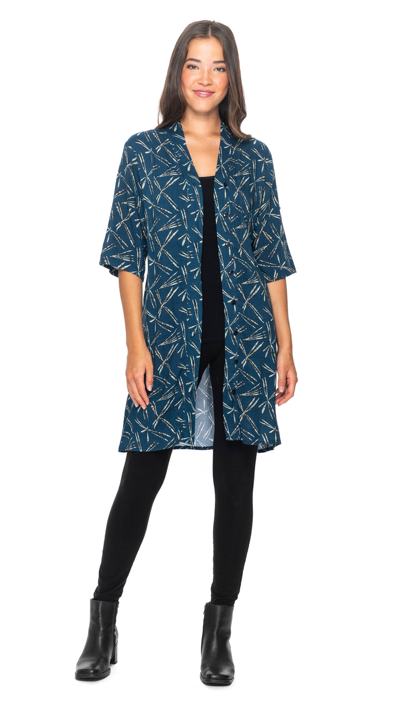 Devon Cardi-Dress - blue