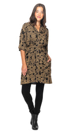 Devon Cardi-Dress - bodhi leaf