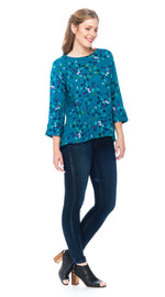 Daisy Top - teal ginkgo
