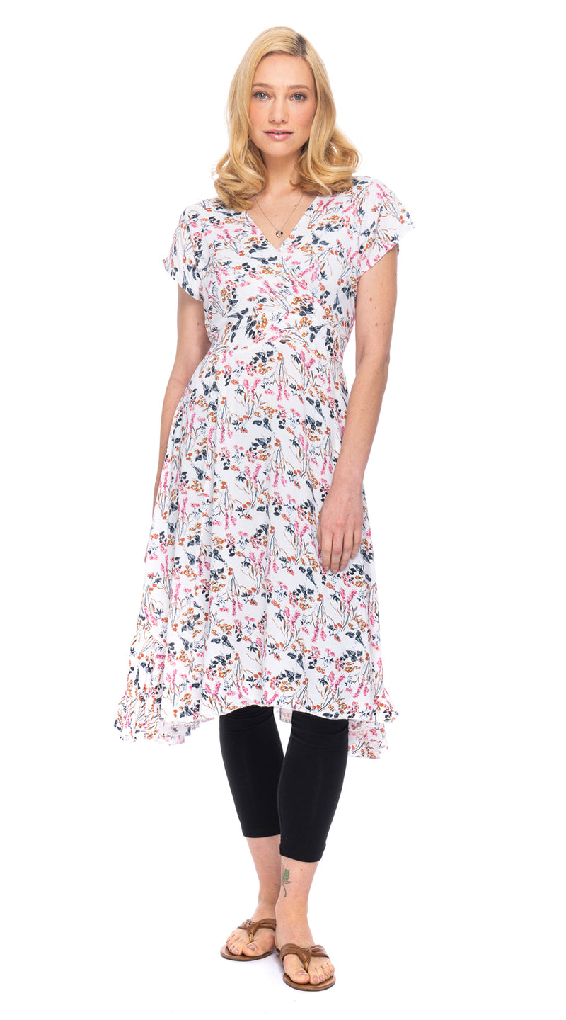 Swing Dress - white flowers