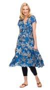 Swing Dress - royal palm