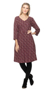 Kelly Dress - maroon