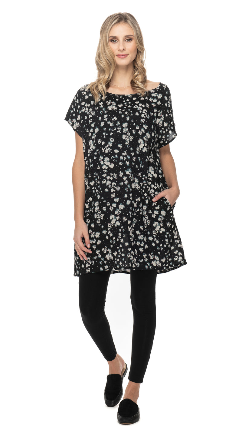 "Trish Tunic - black ""popcorn"""