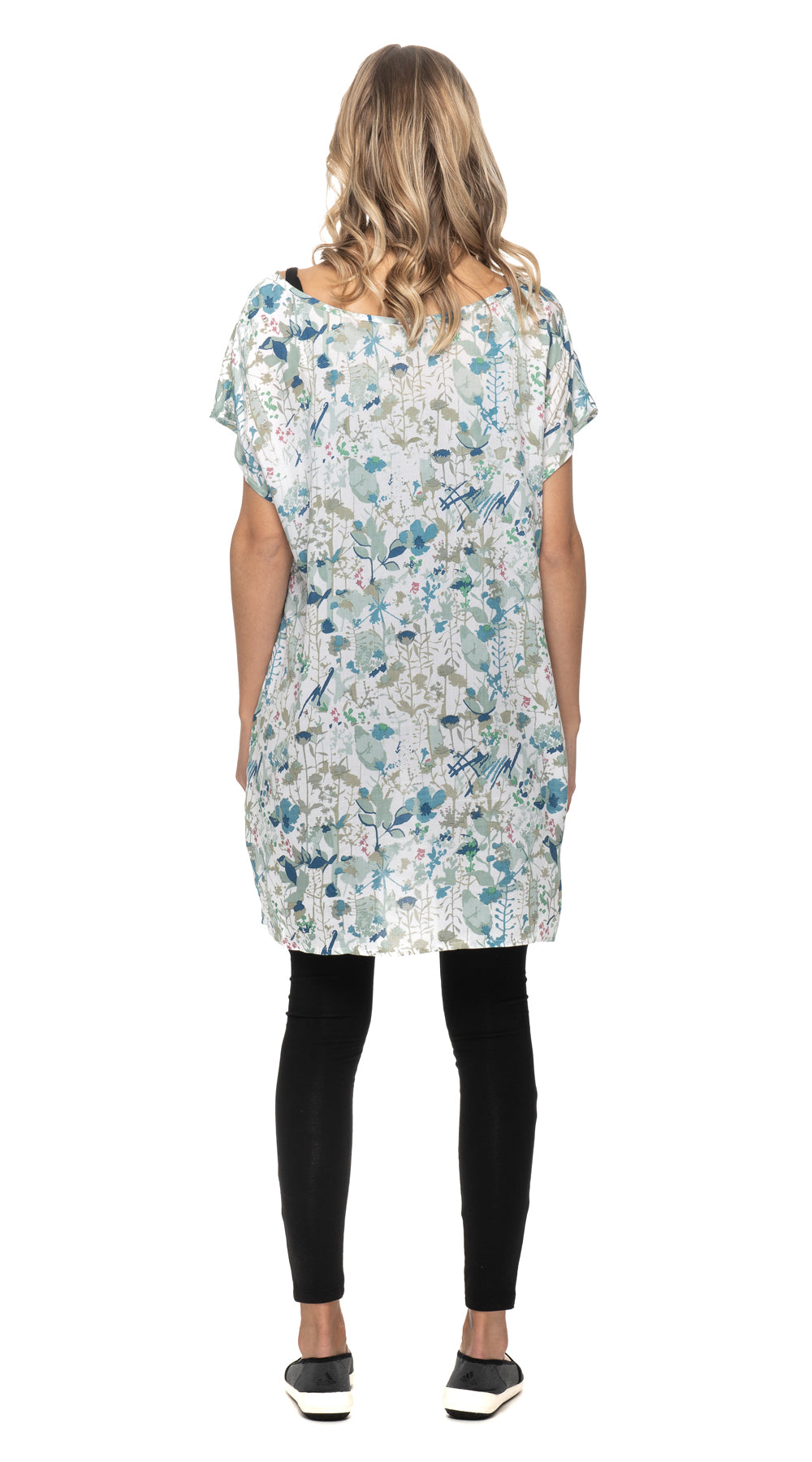 Trish Tunic - white botanical