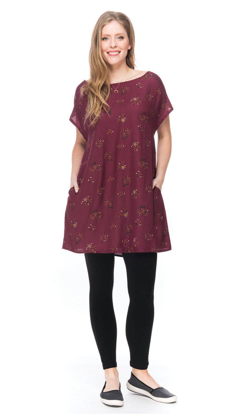 Trish Tunic - maroon