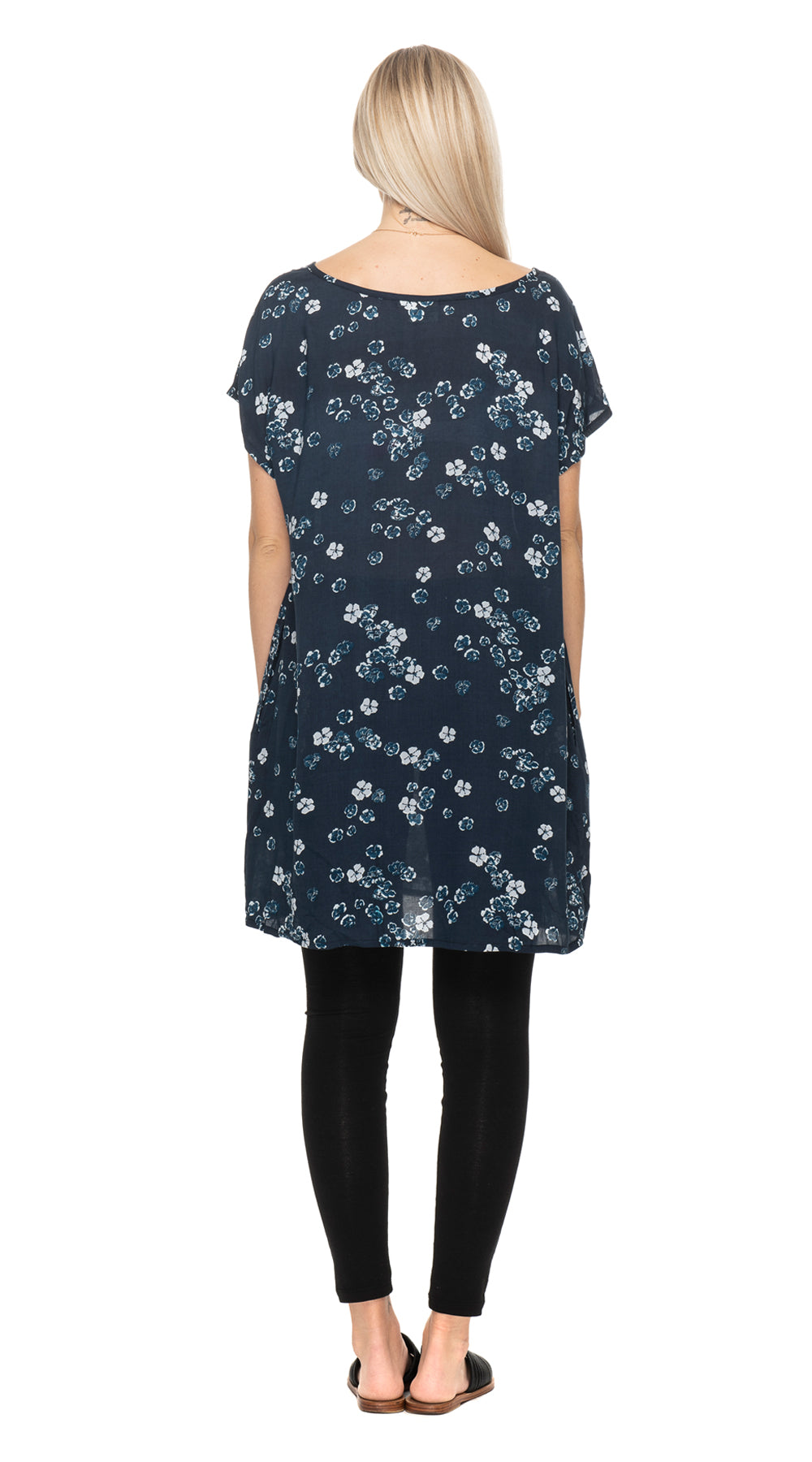 Trish Tunic - navy flower