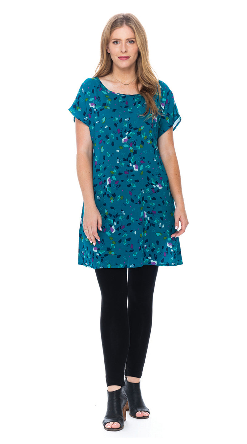 Trish Tunic - teal gingko
