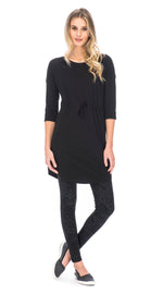 Alana Tunic - black - organic cotton