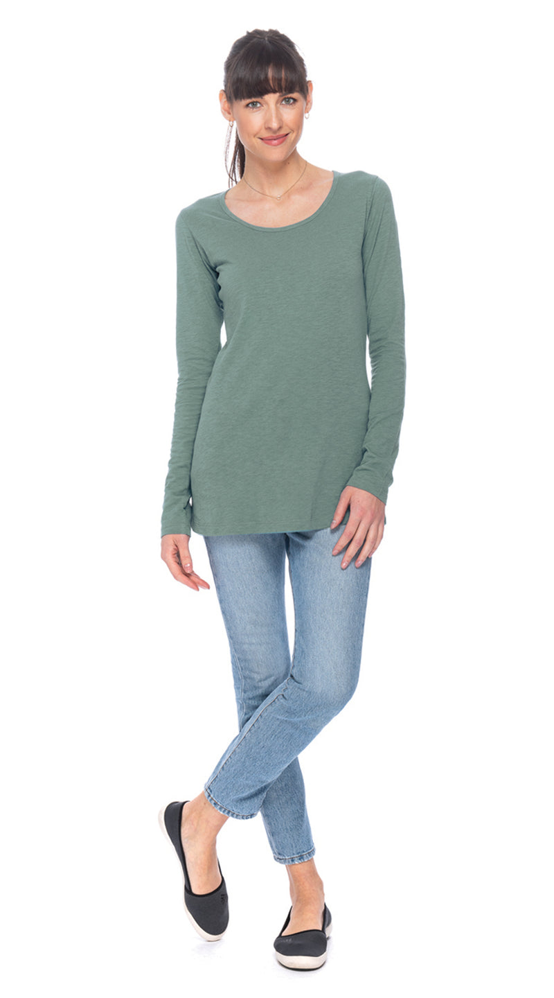 Essential Top - dusty sage - organic cotton