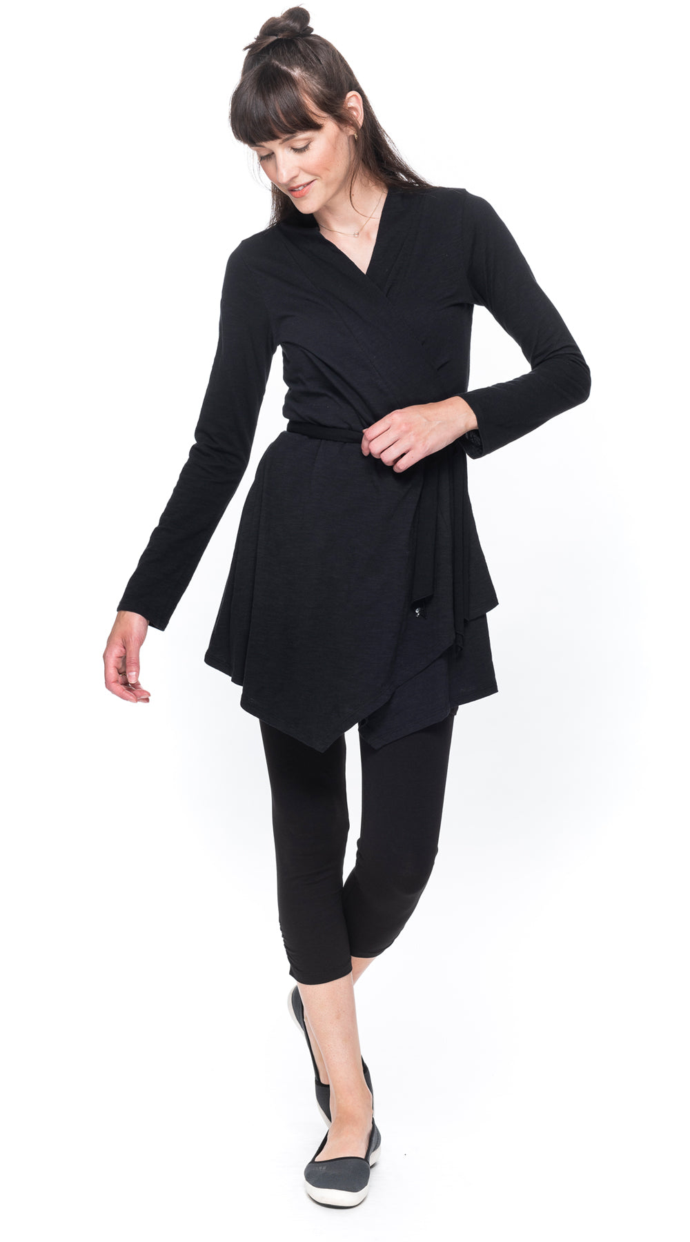 Iris Cardigan - organic cotton - black