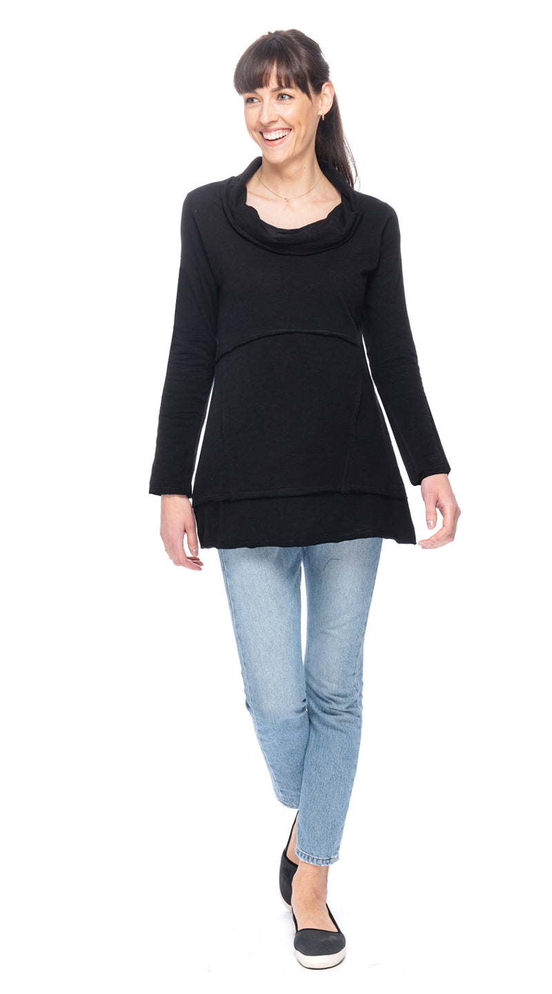 Vanessa Tunic - black - organic cotton