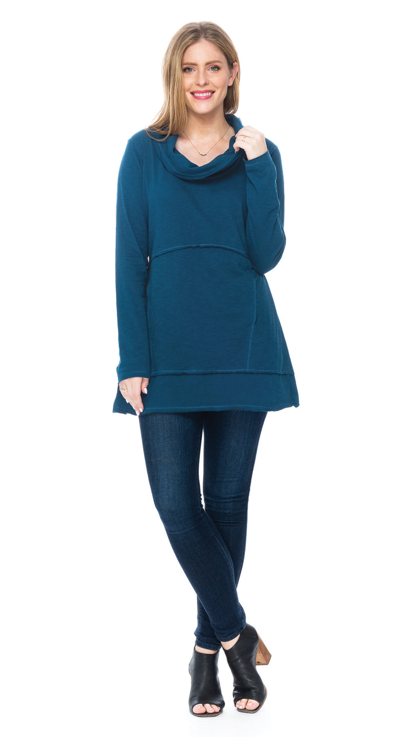 Vanessa Tunic - deep teal - organic cotton