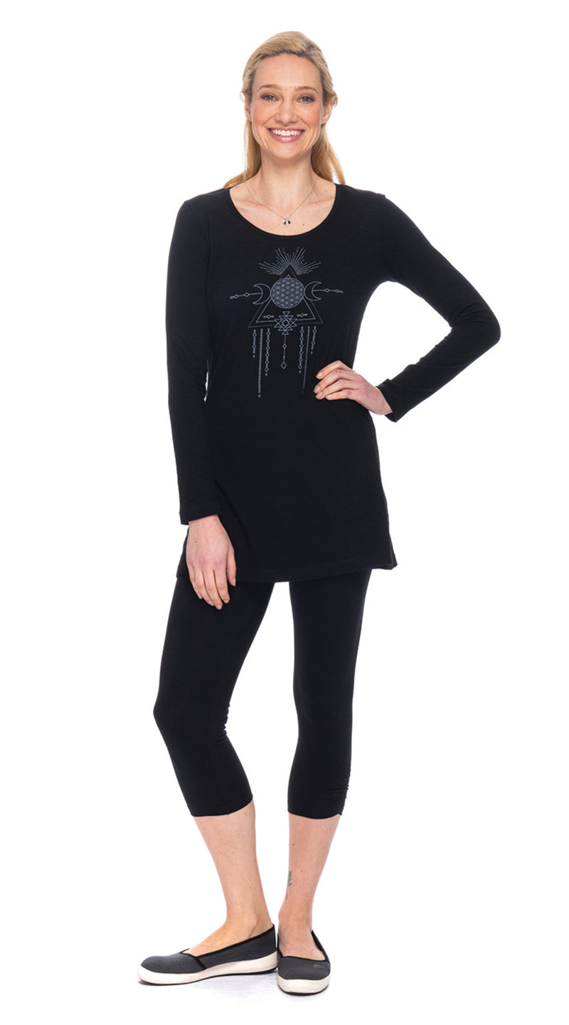 Tanya Tunic - black tribal dream - org.cotton