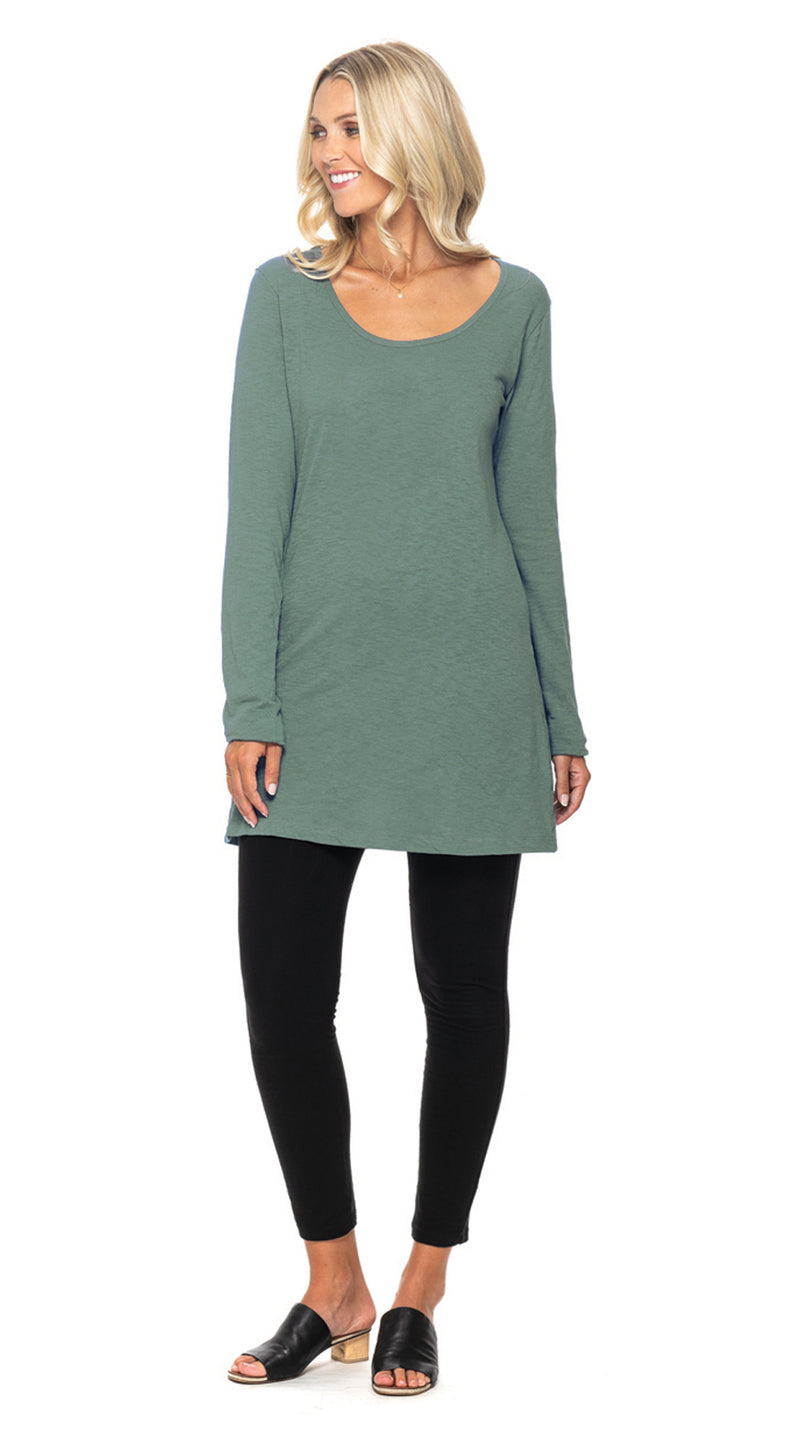 Tanya Tunic - dusty sage - organic cotton