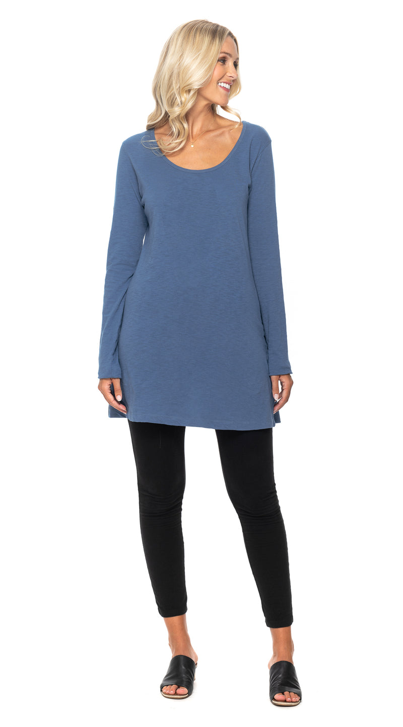 Tanya Tunic - infinity blue - organic cotton