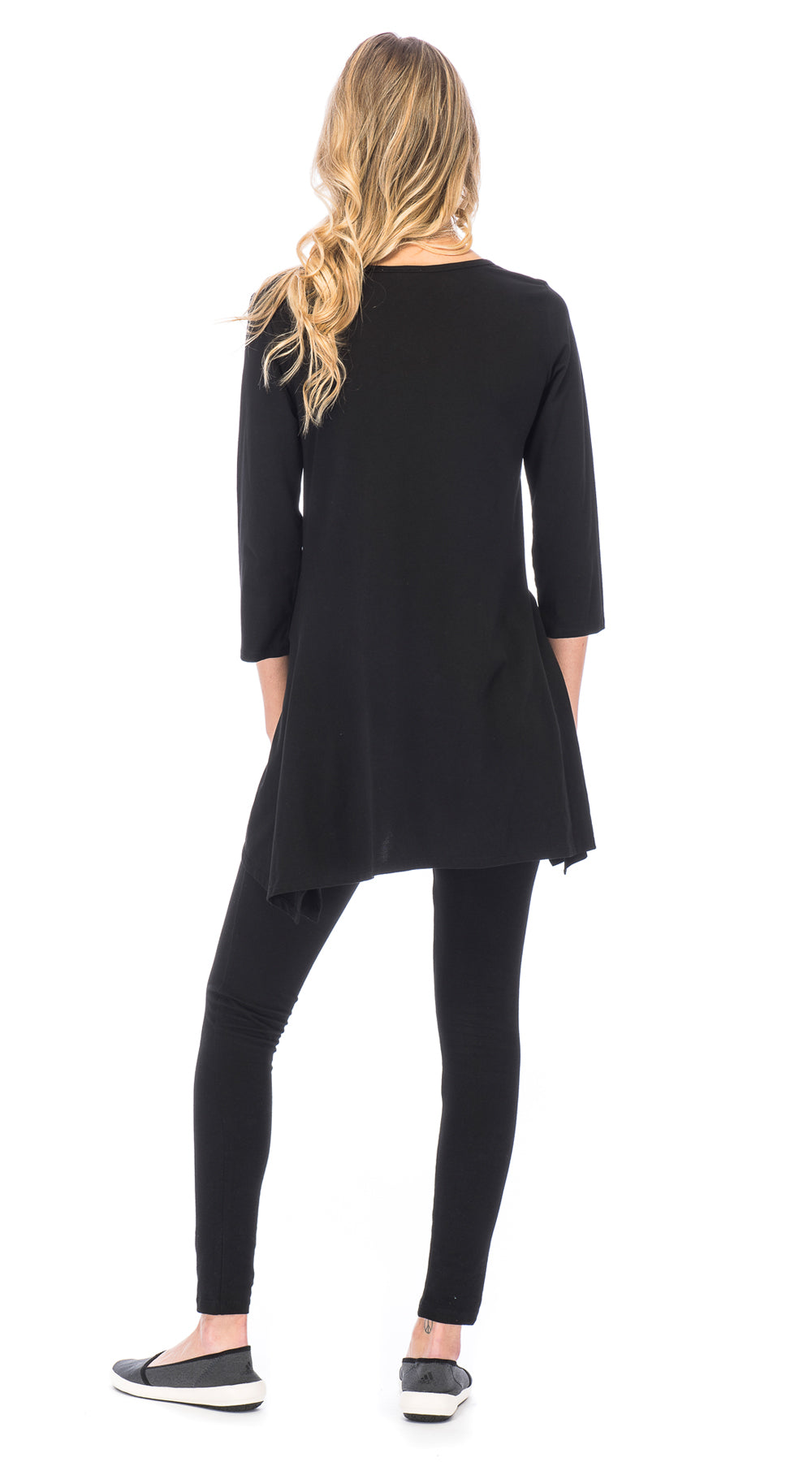 Leela Tunic - black - organic cotton