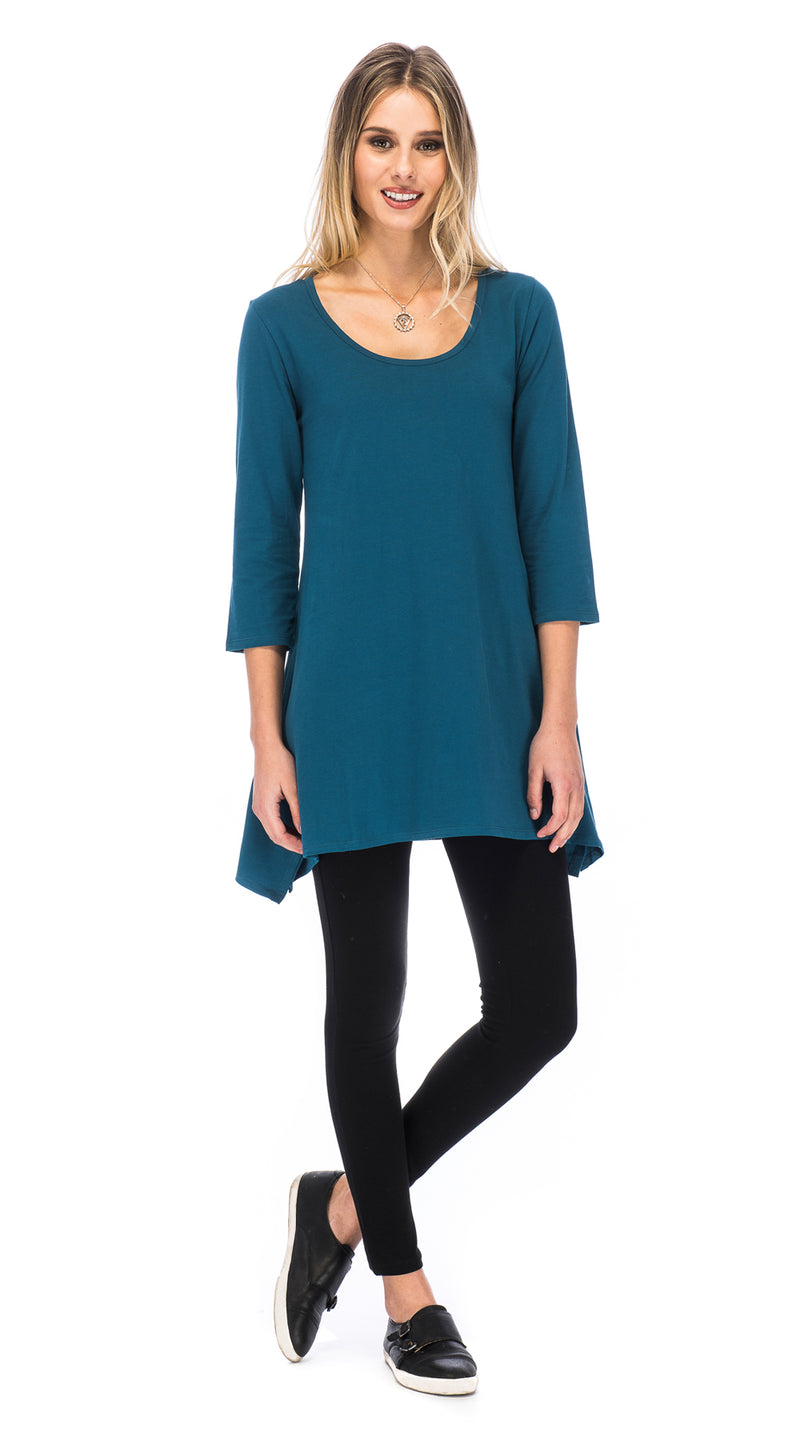 Leela Tunic - blue - organic cotton