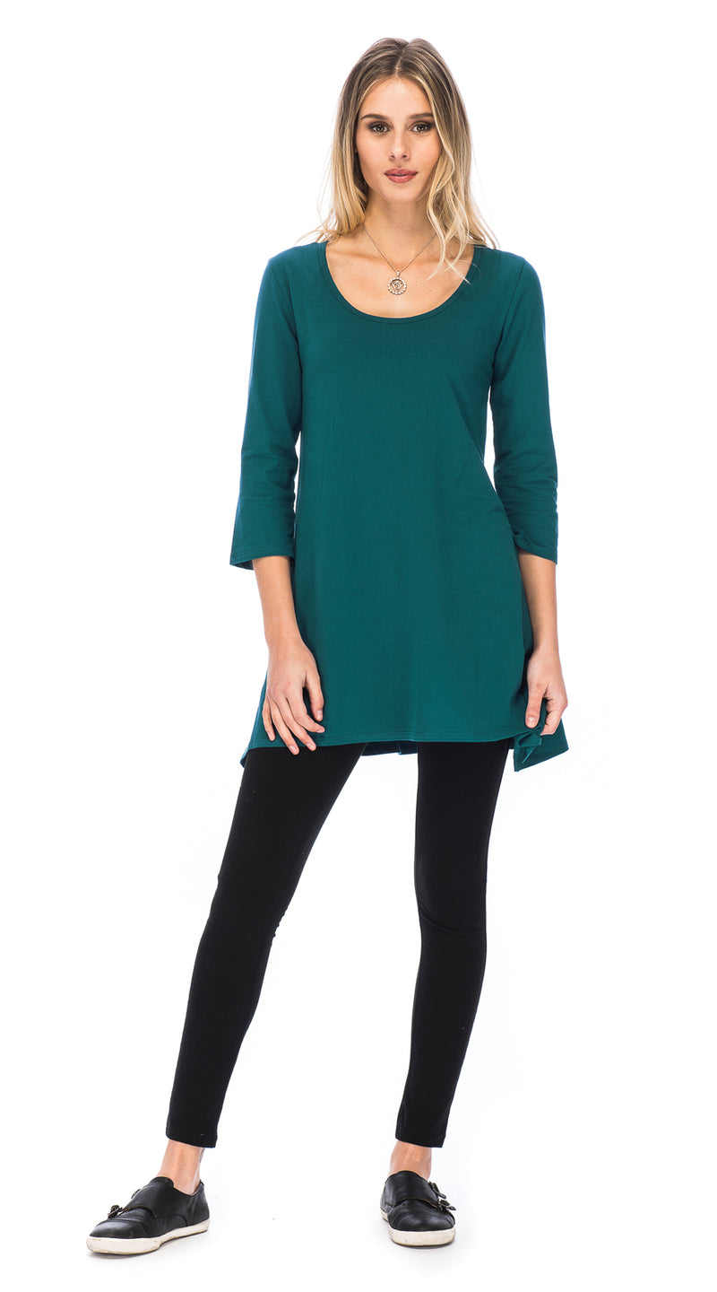 Leela Tunic - peacock - organic cotton
