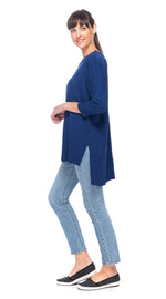 Lana Tunic-deep blue-organic cotton blend