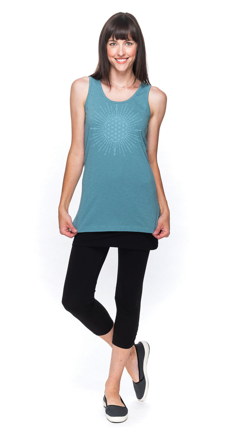 Long Tank - agave sun-flower - organic cotton